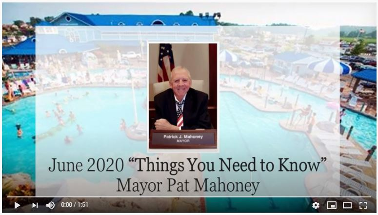 Mayor Pat Message for June