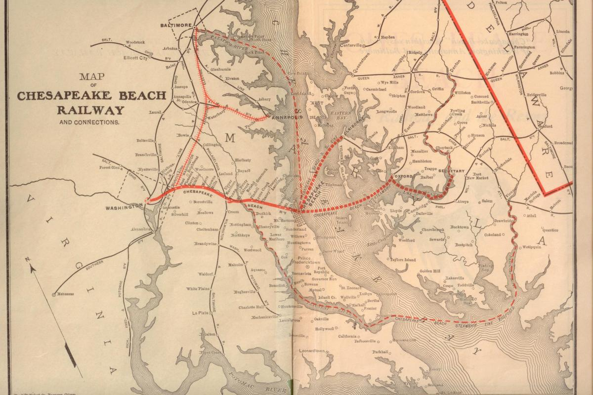 Map pf the Chesapeake Beach Railway