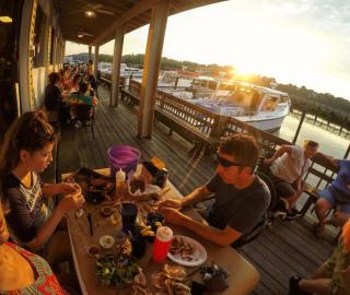 Dining at Abners on Fishing Creek