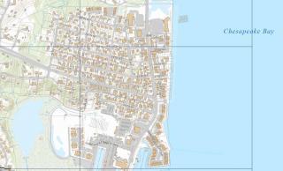 Topography of Chesapeake Beach