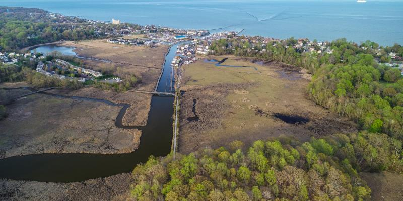 Aerial view of the Town of Chesapeake Beach